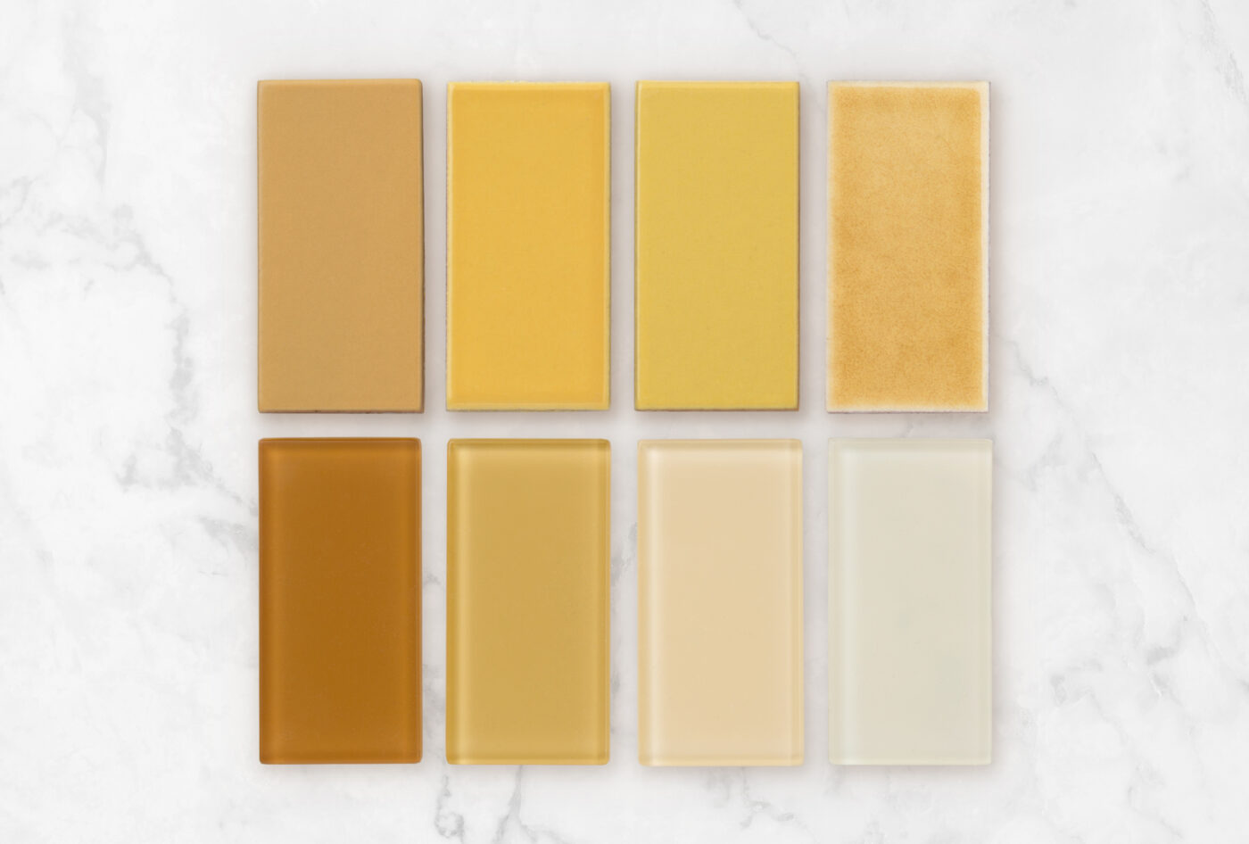 2019 Q3 Fireclay Favorites Yellows All Color Samples Sunflower Tuolumne Meadows Daffodil Haystack Falcon Matte Oriole Gloss Chickadee Gloss Sparrow Matte