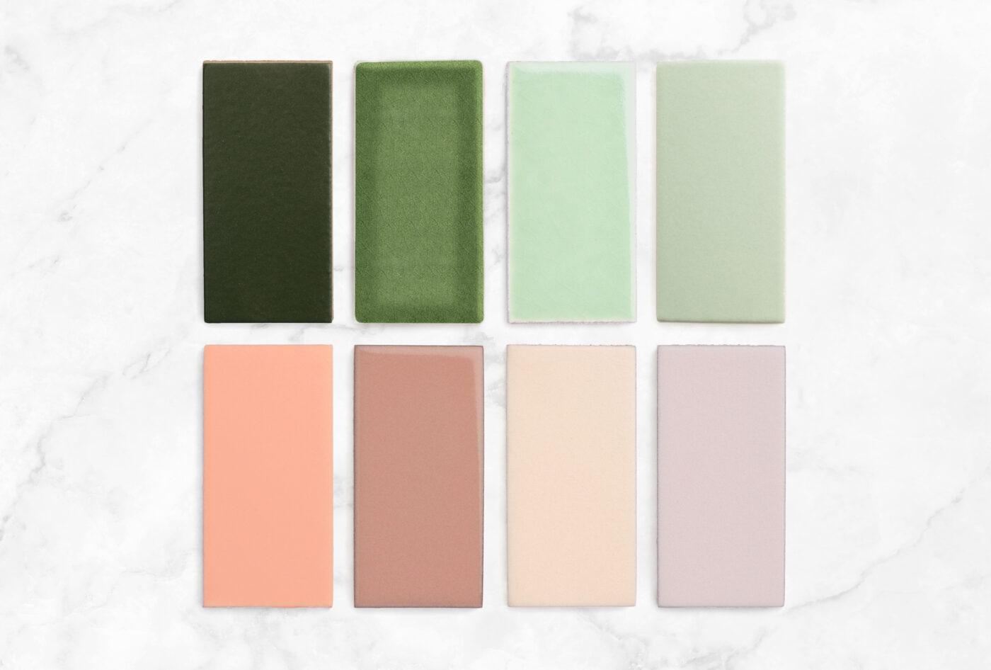 2021 Banner Day Sample Pack Flat Lay Hunter Green Kelp Seedling Sea Glass Desert Bloom Mesa Tumbleweed Dawn 2x4