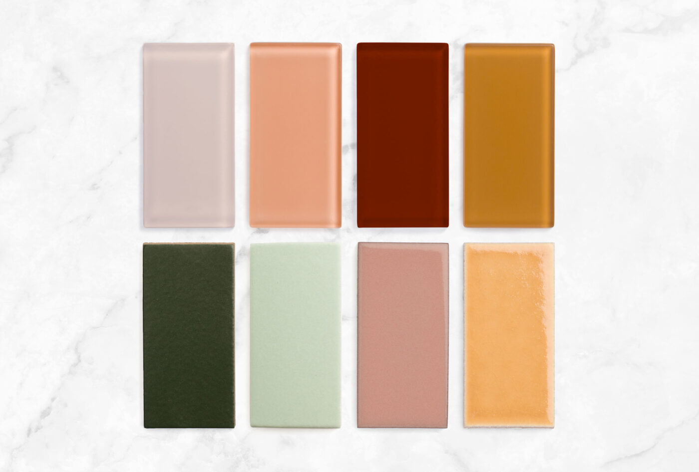 2021 HS Sample Pack Rosy Finch Matte Carolina Wren Gloss Pheasant Gloss Falcon Matte Hunter Green Sea Glass Mesa Koi 2x4