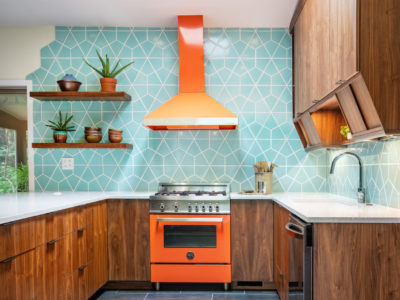 Eclectic Patterned Kitchen Tiles in Hexite