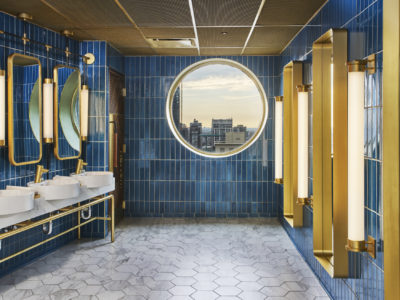 Apogee Lounge: Hotel Bar and Bathroom Tiles