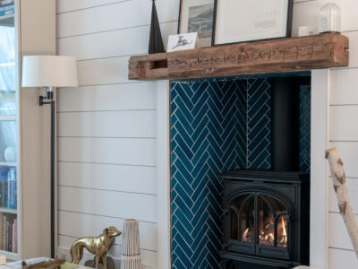 Bright Bazaar: Herringbone Fireplace Tiles