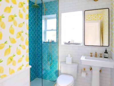 Bright Bazaar: Beach House Guest Bathroom Tiles