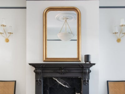 Black Thin Brick Fireplace Tiles Add Drama