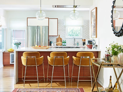 H-Shape Patterned Kitchen Tiles for a Small Space