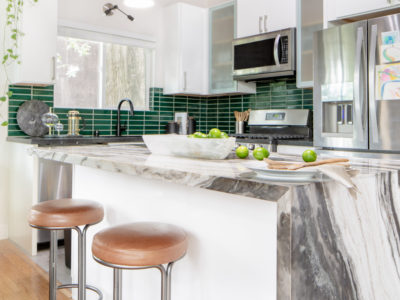 Contemporary Green Kitchen Tiles
