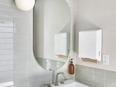 The Commune: 2x6 Oyster Shell Bathroom