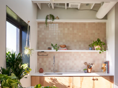 The Commune: 3x3 Sand Dune Backsplash