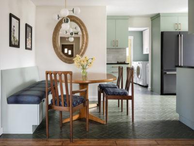 Glazed Thin Brick Floor in Custom Green