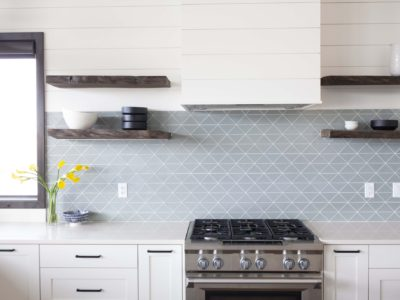 Driftwood Triangles for Patterned Kitchen Tile