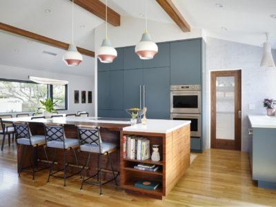 Transitional Design Brick Kitchen