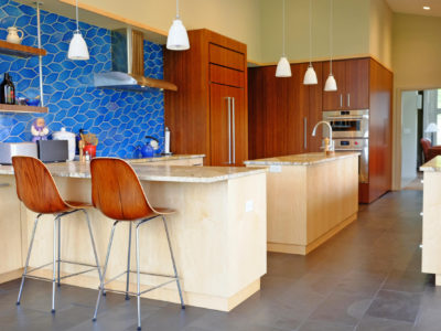 Patterned Kitchen Tiles in Aegean Sea