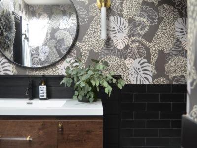 Shavonda Gardner: Basalt Bathroom Tile