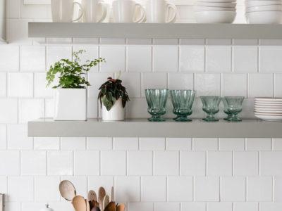 Caitlin Flemming: 4x4 White Kitchen Tiles