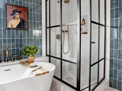 Jaclyn Johnson: Moody Main Bathroom Tiles