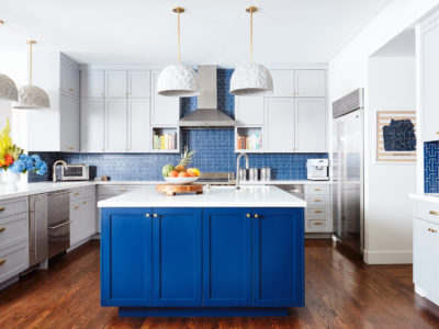 Noz Design: Patterned Blue Tile Kitchen