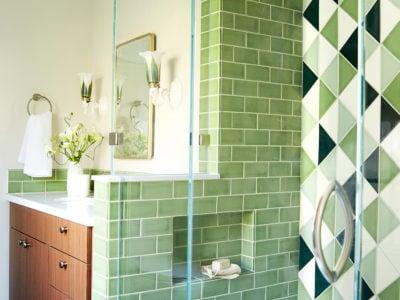 Retro Green Bathroom Tiles
