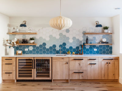 Ombre Hexagon Backsplash