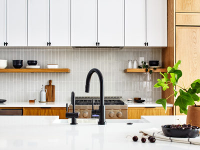French Linen Kitchen Backsplash