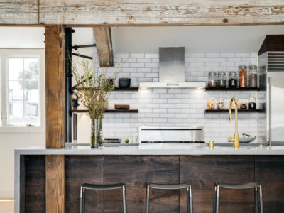 Mokume Design Studio: Glazed Thin Brick Kitchen