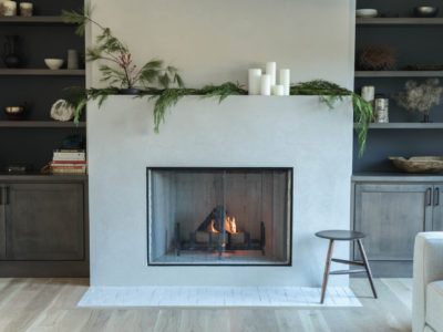 Cozy Brick Fireplace Hearth