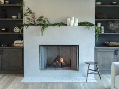 Cozy Brick Fireplace Hearth