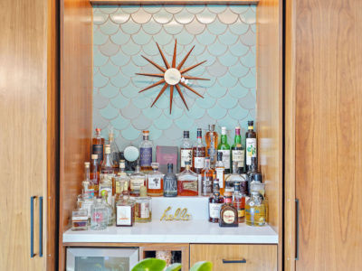 Scalloped Tile Bar Backsplash