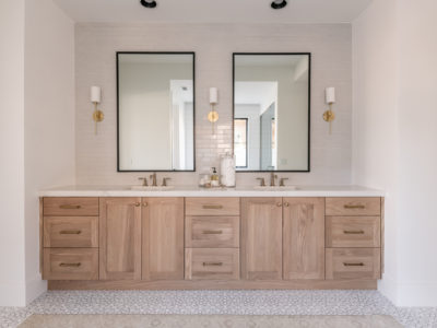 Becki Owens: Gray Tile Bathroom