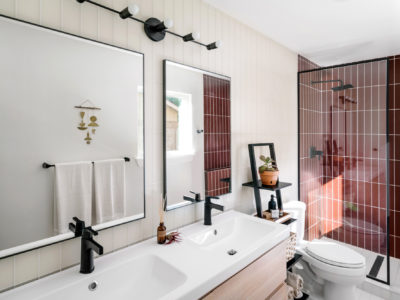 Chase + Lauren Daniel: Glass Tile Bathroom