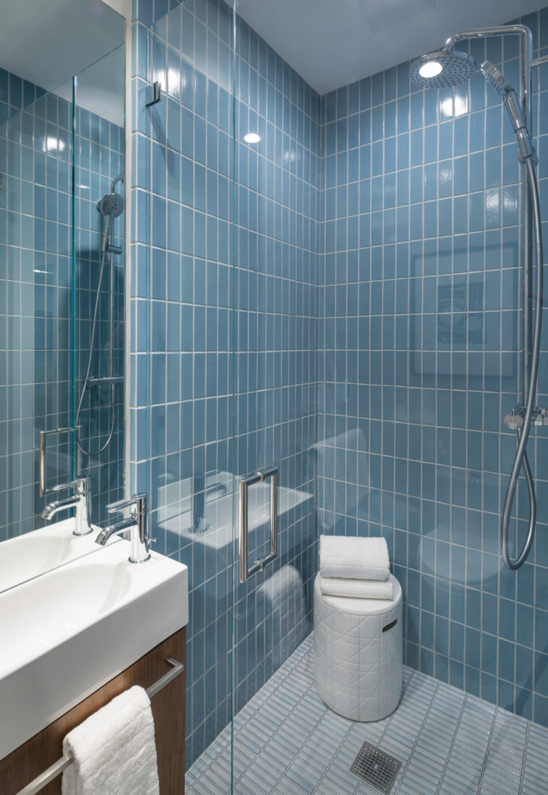 Modern Blue Shower Wall Tile Noz Design Fireclay