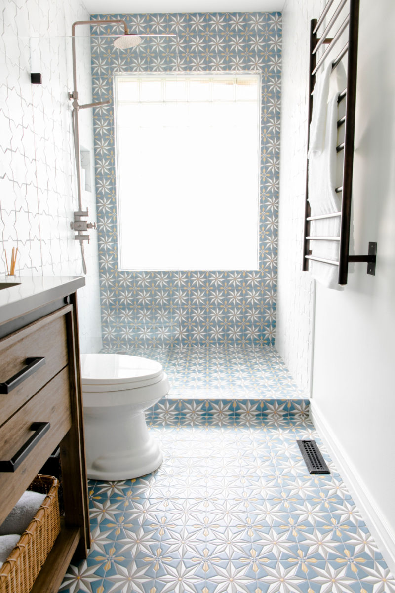 Ali Hynek Starry Bathroom Fireclay Tile