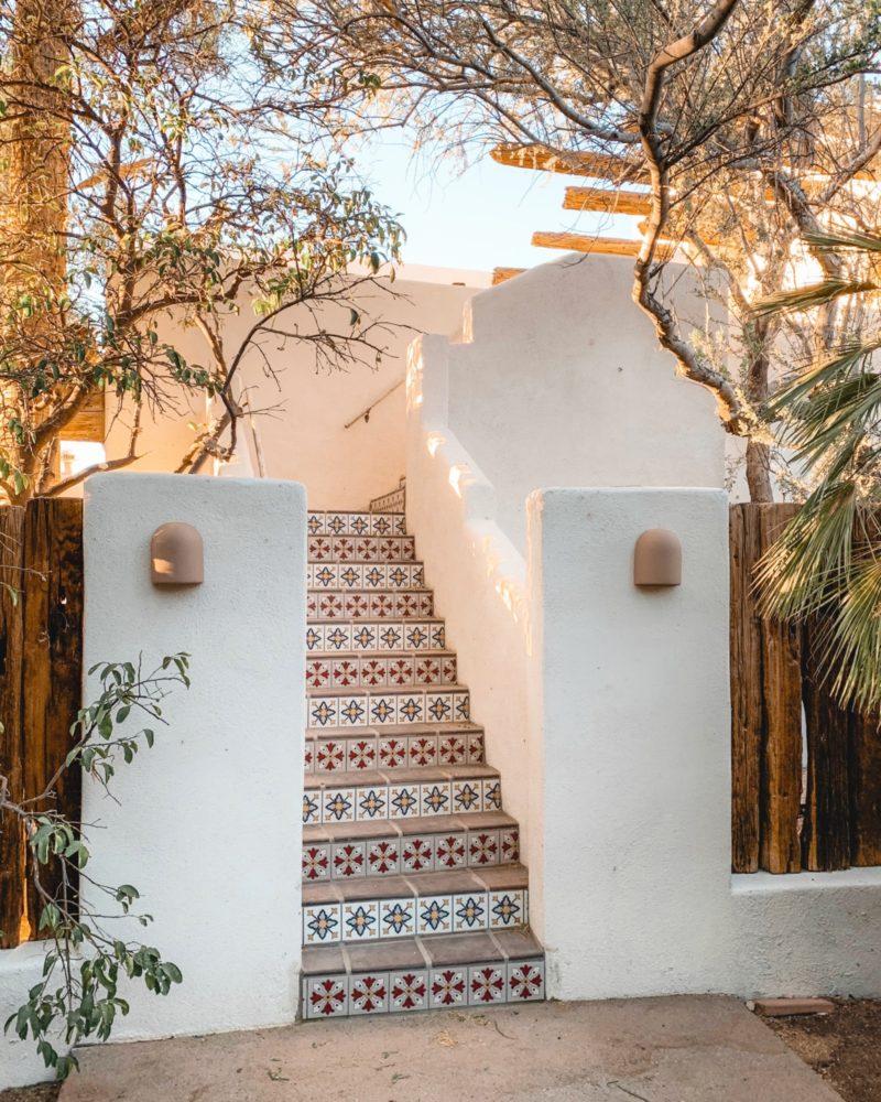 Posada Inn: Handpainted Tile Stair Risers