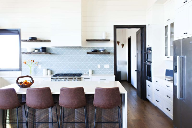 modern triangle patterned kitchen tiles  made in ca