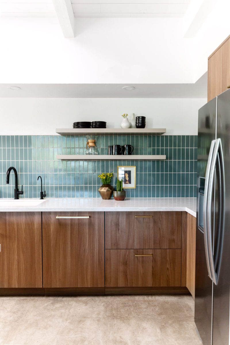 Contemporary Green-Blue Kitchen Tiles