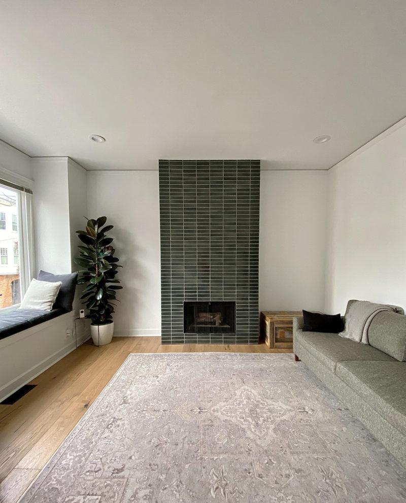 Fireplace Tiles In Dark Green Fireclay Tile Fireclay Tile