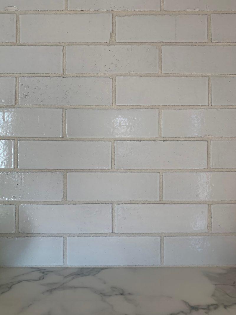 White Brick Backsplash Kitchen Farmhouse Style