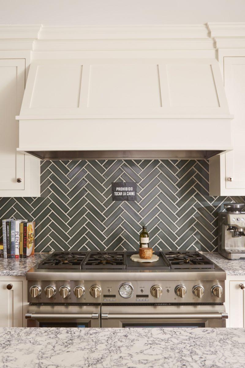 - Dark Grey Herringbone Tiles Kitchen Backsplash Fireclay Tile