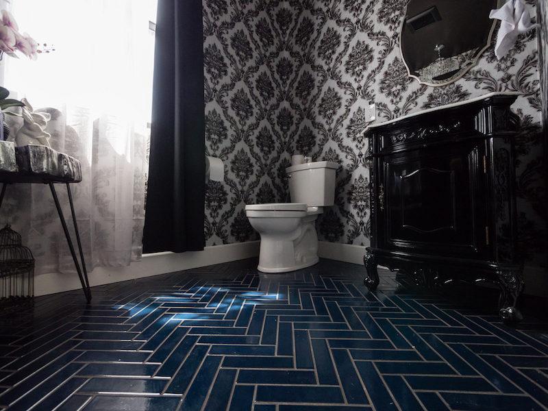Linda Nguyen Powder Room Fireclay Tile
