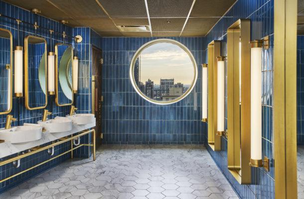 Apogee Lounge: Hotel Bar and Bathroom Tiles