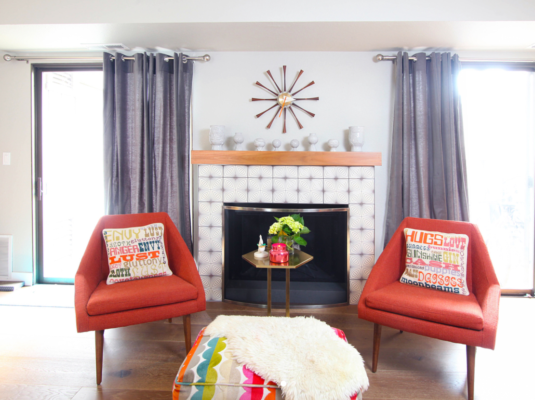 Destination Eichler: Handpainted Fireplace Tiles