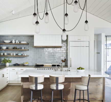 Nautical-Inspired Artisan Subway Tile Kitchen