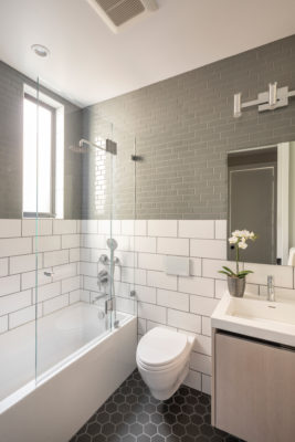 Noz Design: White and Grey Bathroom Tiles