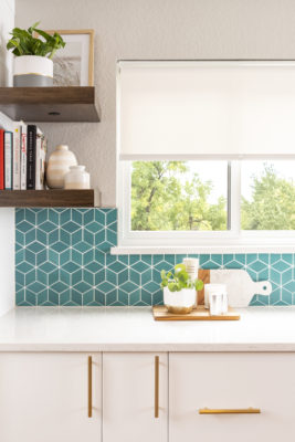 Small Diamond Blue Kitchen Tiles