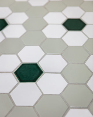 Floral Hexagon Floor Tile