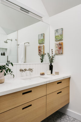 White Bathroom Tiles with Scandi Style