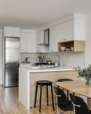 H-Shaped White Kitchen Tiles