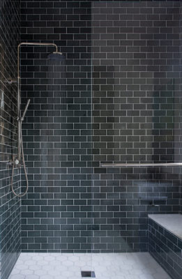 Subway Tile Shower in Cyclone