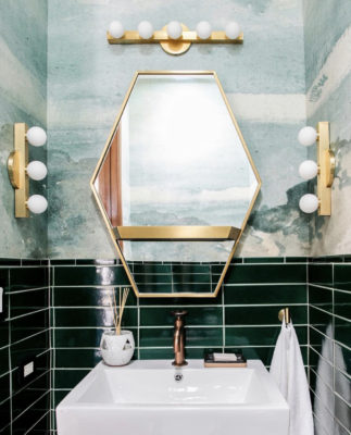 Ali Hynek: Venetian Green Powder Room