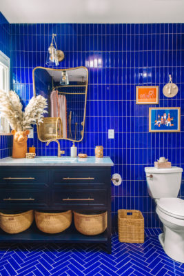 Bright and Bold in Blue Bath