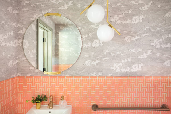 Hoopes Winery Pink Bathroom Tiles